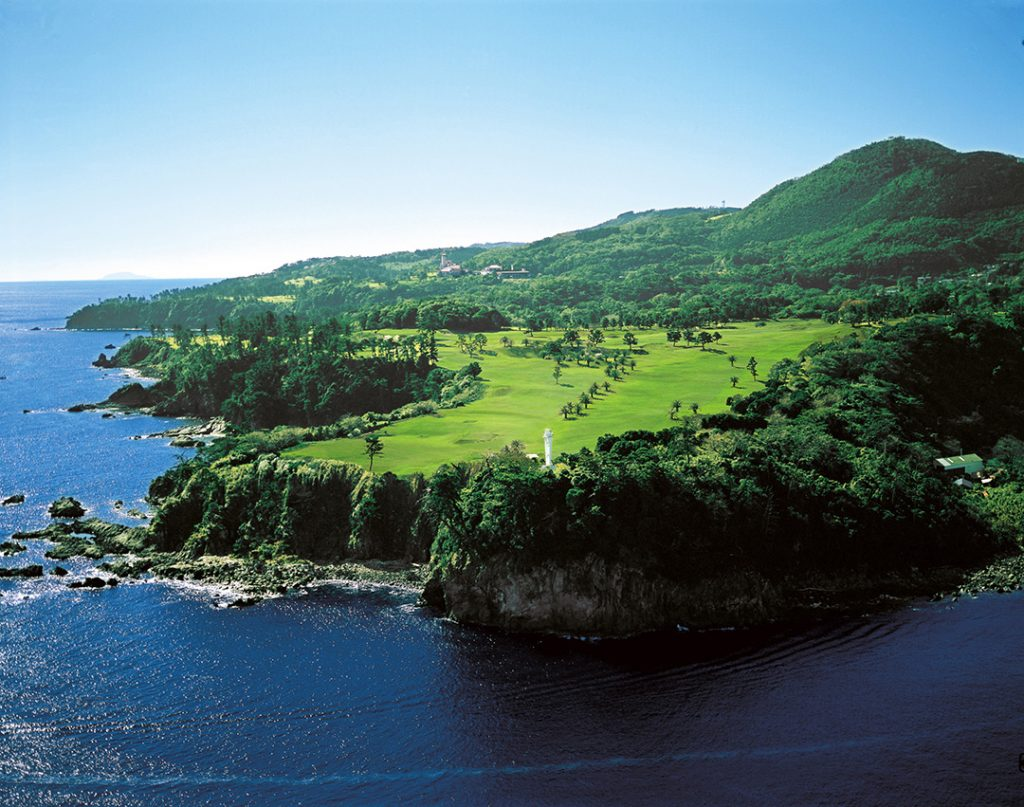 The Kawana Fuji course is often called Japan's Pebble Beach because it is a golf resort set on cliffs near the ocean.