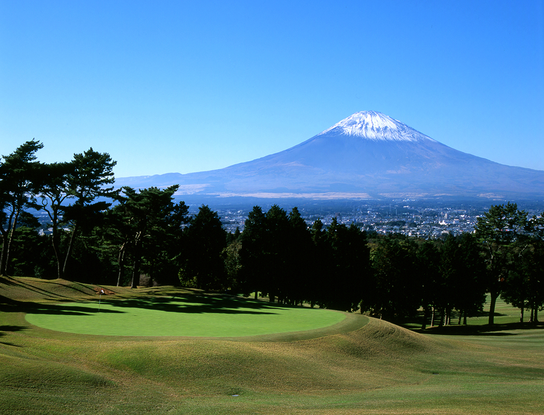 Breath-taking views from the 17th hole of the Fuji Country Club golf course.