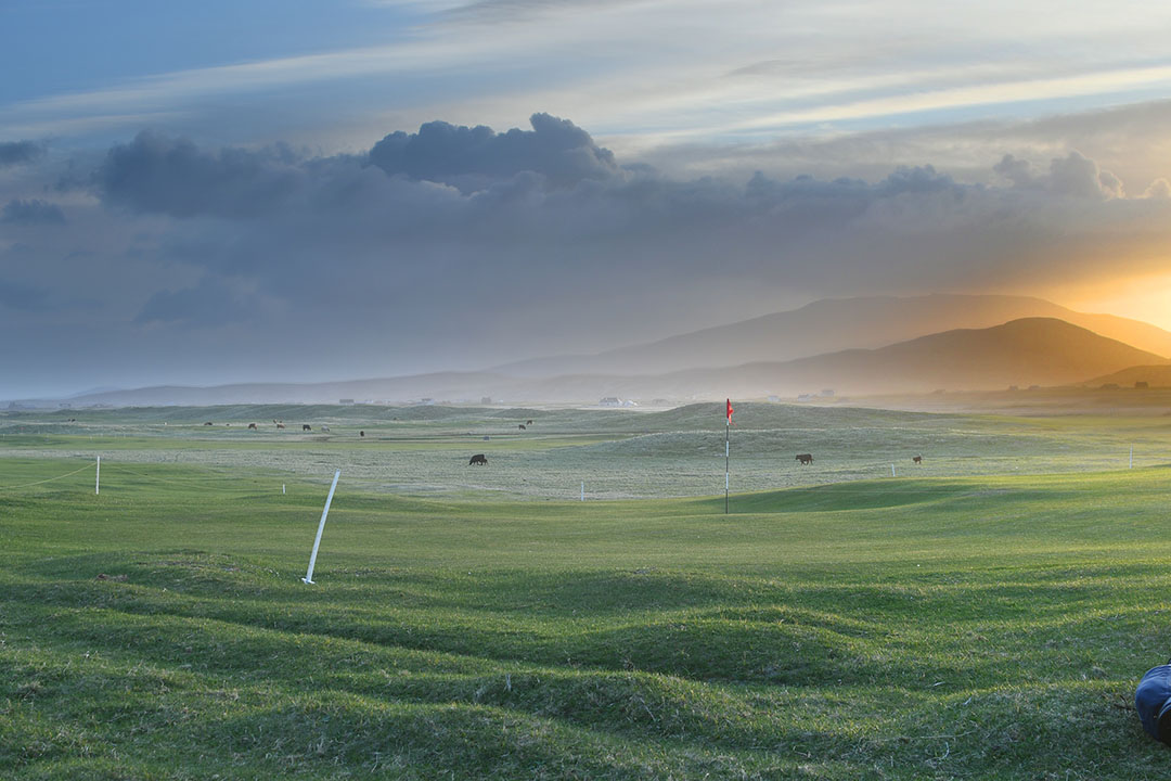 A little rough around the edges where cows and sheep tend to the grass more often than man and mower – Askernish's golf course revels in its truest form of naturalness.