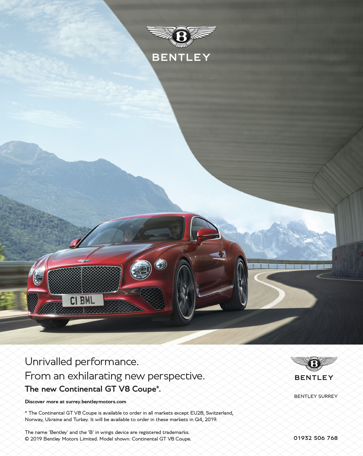 Bentley Continental GT V8 Coupe Ad