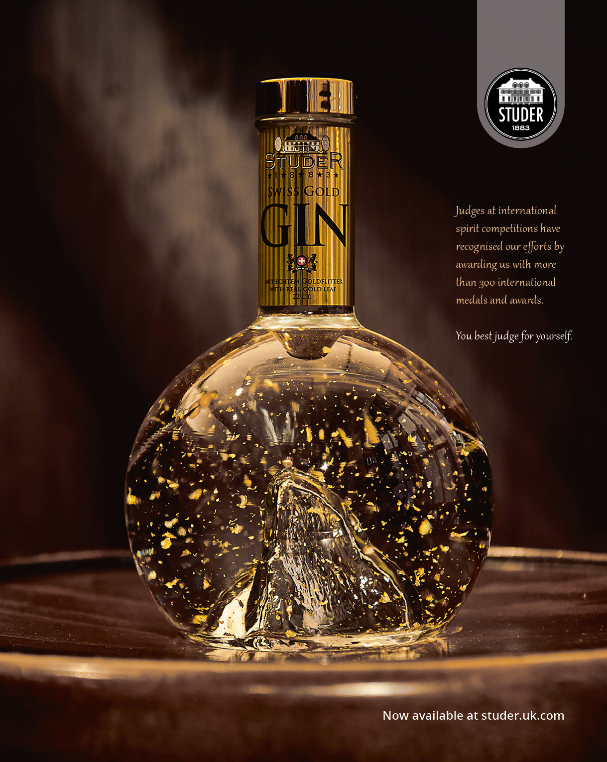 Studer Swiss Gold Gin Ad